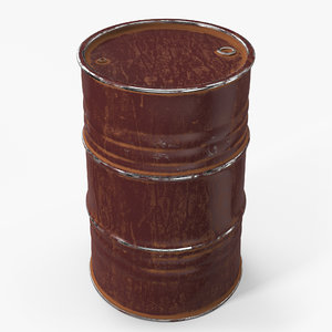 barrel contains metallic 3D model