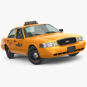 cab taxi yellow 3D model