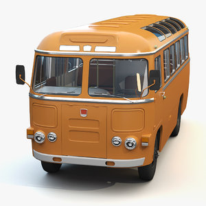 3D mid-poly bus paz-672 model