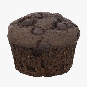 3D chocolate muffin