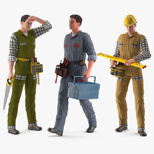 rigged workers works model