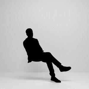 3D sitting silhouette model