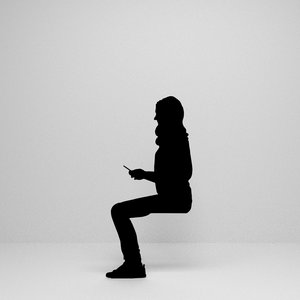 woman sitting silhouette 3D