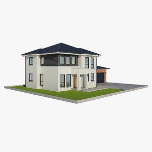 single family house 1 3D model