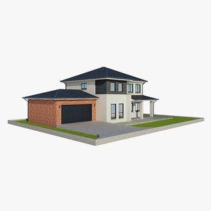 single family house 2 3D model