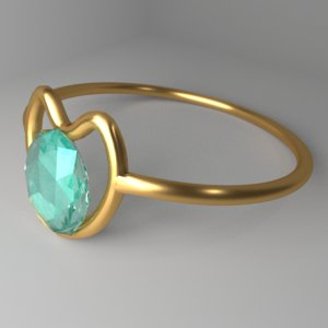 3D gold ring 7