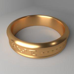 3D gold ring 2 model