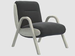 camden lounge chair kelly 3D model
