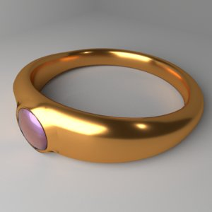 gold ring 9 3D