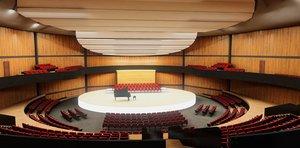 3D concert hall vr scene model