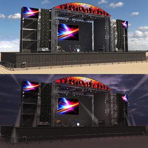 3D concert scene