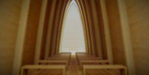 3D art chapel model