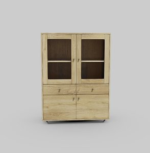 3D steel oak furniture wood
