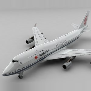 boeing 747 air china 3D