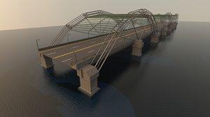 3D suspension bridge model