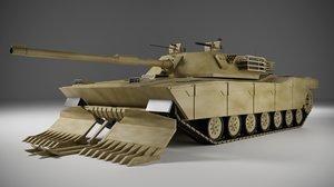 3D main battle tank model