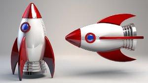 rocket v3 cartoon space model