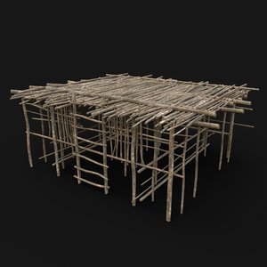 aaa jungle tribal wooden 3D model
