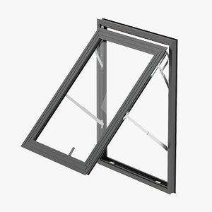 3D model door aluminium