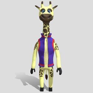 student giraffe 3D