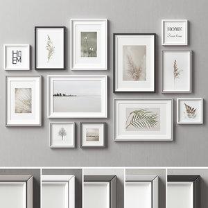 3D picture frames set-166