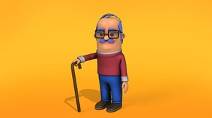 grand father 3D model