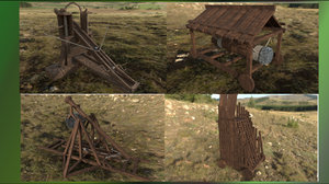 medieval siege weaponry 3D model