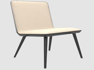 3D spine lounge wood base