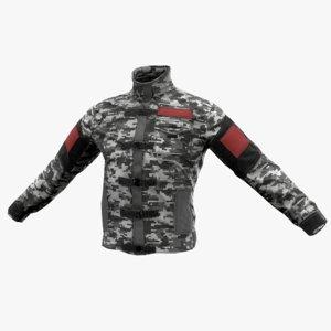 tactical jacket 3D model