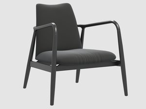 chair charles black pols 3D model