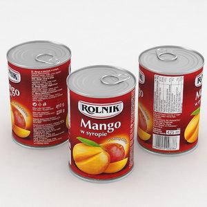 3D model food mango