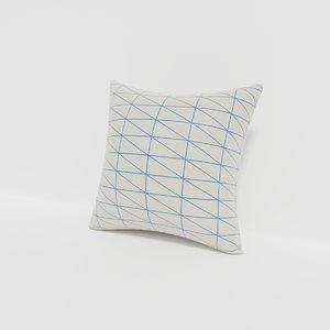 3D cushion furniture model
