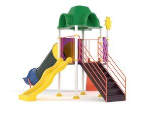 3D children slide playground