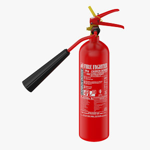extinguisher carbon dioxid 3D