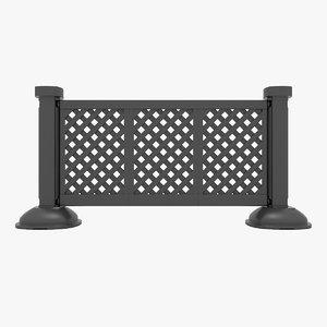 3D portable fence