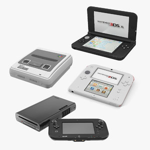 nintendo consoles gaming 3D model