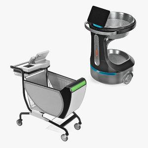 3D smart shopping carts