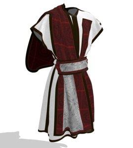 clothes tunics ancient roman model