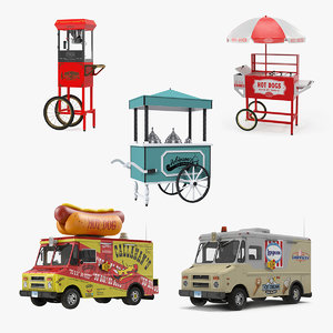 street vending equipment 3D model