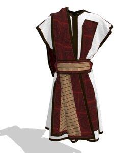 3D clothes tunics ancient roman model