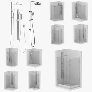 12 shower 3D model