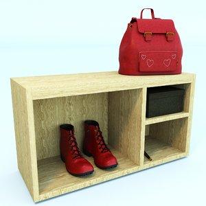 shelf shoes 3D