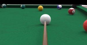 pool table cues 3D model
