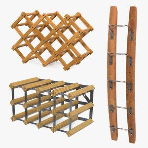 wooden wine racks 2 model