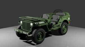 1943 jeep willys 3D