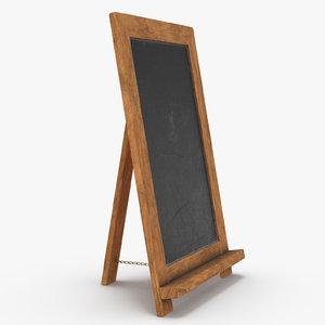 chalk board 3D model