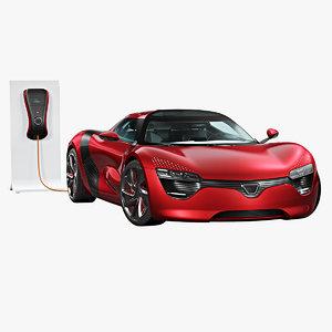 generic sport car ampere 3D
