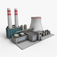 Power Plant Low poly