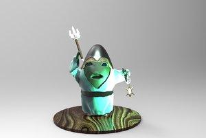 3D avocado scene