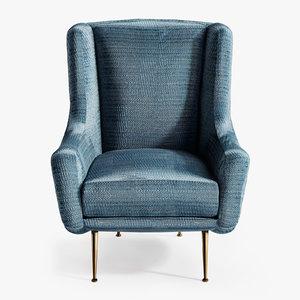 3D italian vintage armchair
